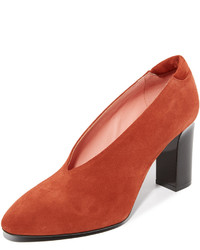 Zapatos de tacón de ante rojos de Acne Studios