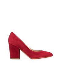 Zapatos de tacón de ante rojos de Baldinini