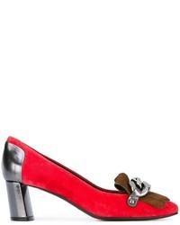 Zapatos de Tacón de Ante Rojos de Casadei