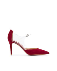 Zapatos de tacón de ante rojos de Gianvito Rossi