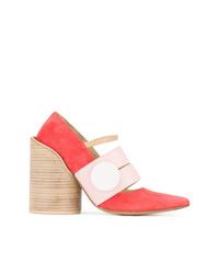Zapatos de tacón de ante rojos de Jacquemus