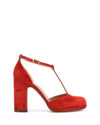 Zapatos de tacón de ante rojos de L'Autre Chose