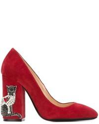 Zapatos de Tacón de Ante Rojos de No.21