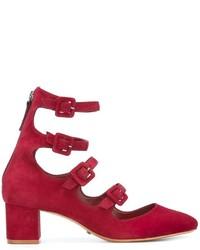 Zapatos de Tacón de Ante Rojos de Schutz