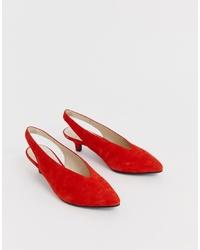 Zapatos de tacón de ante rojos de Vagabond