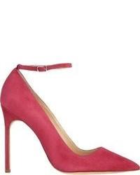 Zapatos de tacón de ante rosa