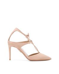 Zapatos de Tacón de Ante Rosados de Aquazzura