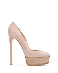 Zapatos de Tacón de Ante Rosados de Casadei