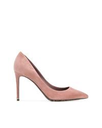 Zapatos de Tacón de Ante Rosados de Dolce & Gabbana