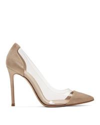 Zapatos de tacón de ante rosados de Gianvito Rossi