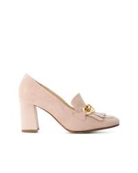 Zapatos de Tacón de Ante Rosados de Högl