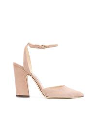 Zapatos de tacón de ante rosados de Jimmy Choo