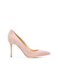 Zapatos de Tacón de Ante Rosados de Sergio Rossi