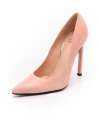 Zapatos de Tacón de Ante Rosados de Stuart Weitzman