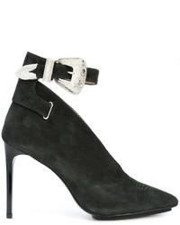 Zapatos de Tacón de Ante Verde Oscuro de Toga Pulla