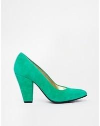 Zapatos de tacón de ante verdes de Gardenia