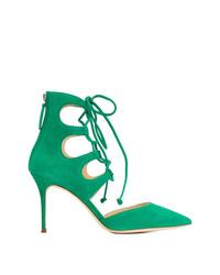 Zapatos de tacón de ante verdes de Giuseppe Zanotti Design