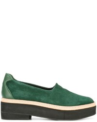 Zapatos de tacón de ante verdes de Robert Clergerie