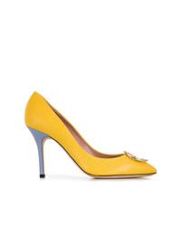 Zapatos de Tacón de Cuero Amarillos de Emilio Pucci