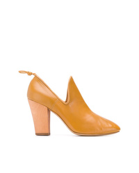 Zapatos de Tacón de Cuero Amarillos de Lemaire
