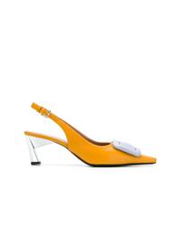 Zapatos de Tacón de Cuero Amarillos de Marni