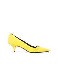 Zapatos de Tacón de Cuero Amarillos de N°21
