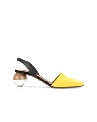 Zapatos de tacón de cuero amarillos de Neous
