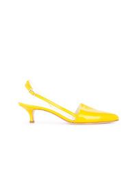 Zapatos de tacón de cuero amarillos de Tibi