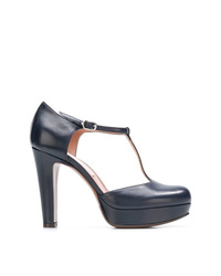 Zapatos de tacón de cuero azul marino de L'Autre Chose