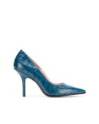 Zapatos de tacón de cuero azules de Anna F.