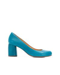 Zapatos de tacón de cuero azules de Chie Mihara