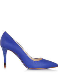 Zapatos de tacón de cuero azules de Fendi