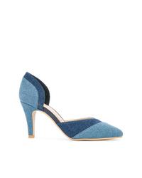 Zapatos de tacón de cuero azules de GUILD PRIME
