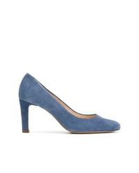 Zapatos de tacón de cuero azules de Högl
