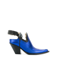 Zapatos de Tacón de Cuero Azules de Maison Margiela