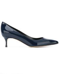 Zapatos de tacón de cuero azules de Sergio Rossi