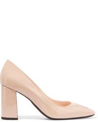 Zapatos de Tacón de Cuero Beige de Bottega Veneta