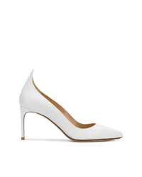 Zapatos de tacón de cuero blancos de Francesco Russo