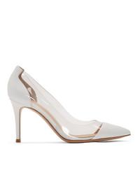 Zapatos de tacón de cuero blancos de Gianvito Rossi