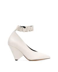 Zapatos de tacón de cuero blancos de Isabel Marant