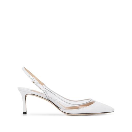 Zapatos de tacón de cuero blancos de Jimmy Choo