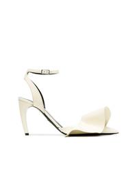 Zapatos de tacón de cuero blancos de Proenza Schouler