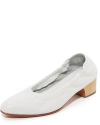 Zapatos de tacón de cuero blancos de Rachel Comey