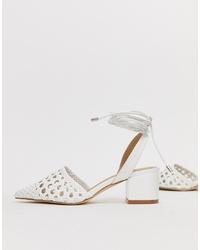 Zapatos de tacón de cuero blancos de RAID