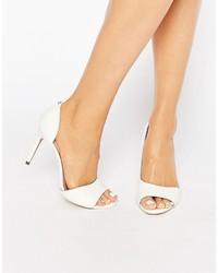 Zapatos de Tacón de Cuero Blancos de Ted Baker