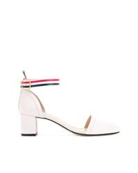 Zapatos de tacón de cuero blancos de Thom Browne