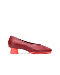 Zapatos de Tacón de Cuero Burdeos de Camper