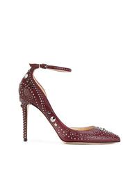 Zapatos de Tacón de Cuero Burdeos de Jimmy Choo