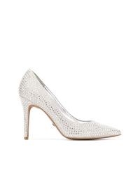 Zapatos de tacón de cuero con adornos plateados de MICHAEL Michael Kors