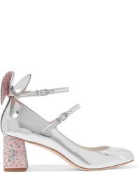 Zapatos de Tacón de Cuero con Adornos Plateados de Sophia Webster